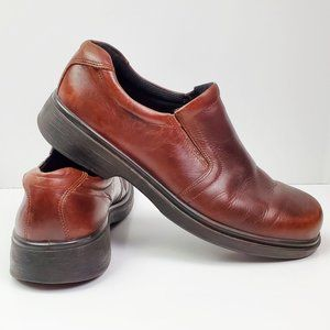 Ecco Shock Point Shoes Slip-on Leather 45 11/11.5